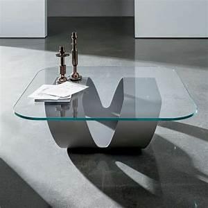 Pied De Table Basse Design : table basse design en verre ring sovet 4 pieds ~ Preciouscoupons.com Idées de Décoration