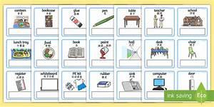 EAL Everyday Object at School Editable Cards English/Mandarin