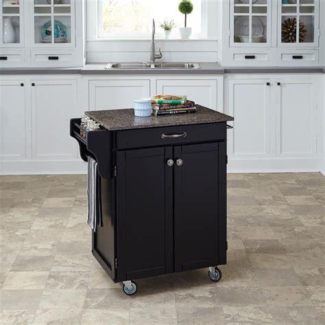 home styles cuisine cart black kitchen cart  quartz