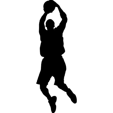 basketball player clipart black and white basketball silhouette clipart 26