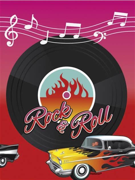 Deko Rock N Roll by Deko Tischdecke Rock And Roll 50er Jahre