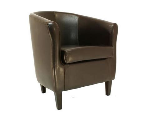 panda brown faux leather tub chair uk delivery