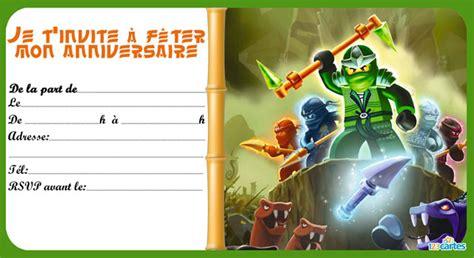 8 Invitations Anniversaire Lego Ninjago