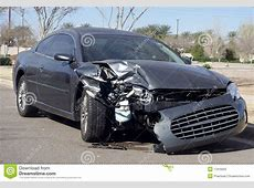 Car Wreck Damaged After Road Accident Stock Photos Image