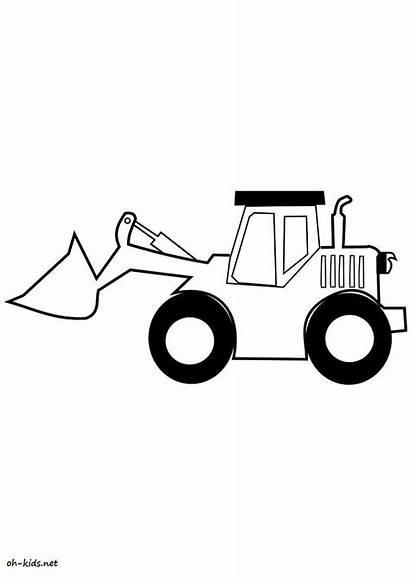Bulldozer Shovel Transportation Coloring Mecanic Coloriage Colorier