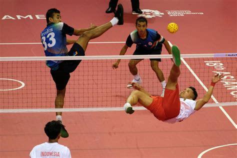 asian games indonesia reaches sepak takraws mens team