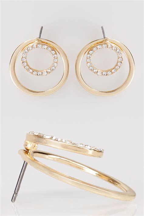 boucles doreille  diamant en cercle