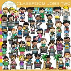 Classroom Jobs Clip Art  Set Two , Images & Illustrations  Whimsy Clips