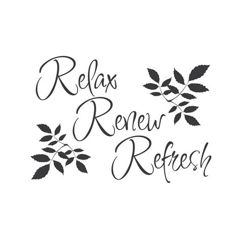 wall quotes wall decals quot relax renew refresh quot