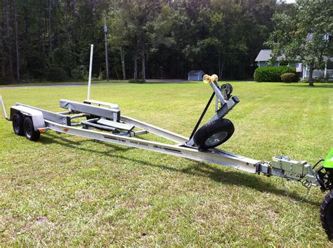 Fishing Boat Trailer Parts 26 aluminum tandem torsion axle boat trailer the hull