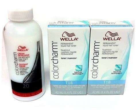Wella Color Charm T18 Lightest Ash Blonde 2-pack With 20