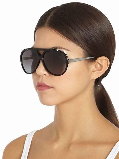 Sunglasses Aviator Mcqueen Studded Alexander Acetate Lyst