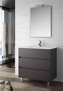 Meuble Tiroir Salle De Bain : meubles lave mains robinetteries meuble sdb meuble de salle de bain 100 cm arenys 1000 3 ~ Teatrodelosmanantiales.com Idées de Décoration