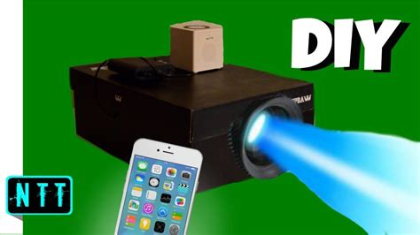 diy iphone projector diy smartphone projector how to make a shoebox projector 2126