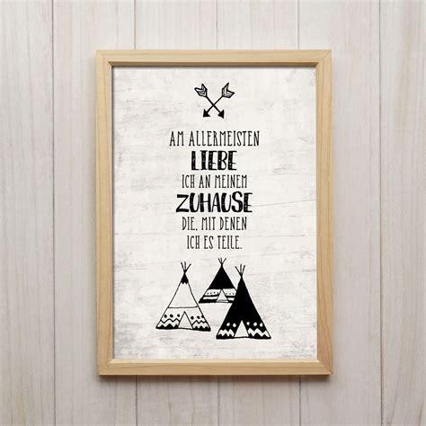 zuhause liebe spruch kunstdruck poster a4 familie kinder