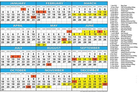 printable school holidays calendar singapore calendar