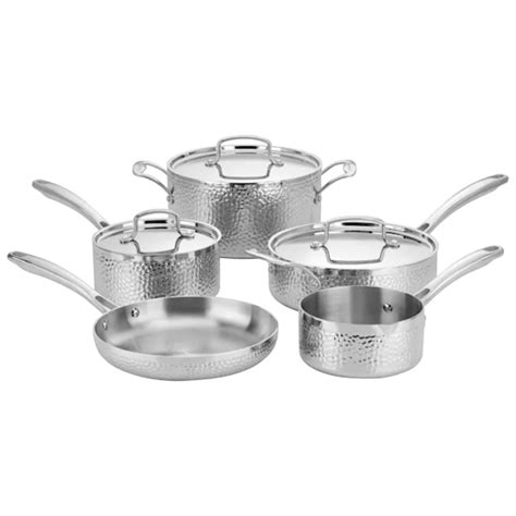 cuisinart pc hammered tri ply stainless cookware set