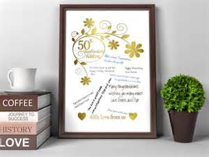 gift ideas for 50th wedding anniversary 50th wedding anniversary gift ideas