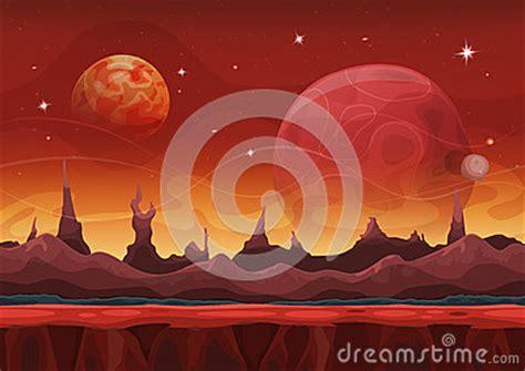 fantasy sci fi martian background  ui game stock vector