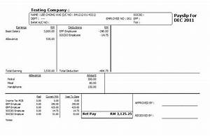 comfortable fake payslip template photos resume ideas With malaysia payslip template