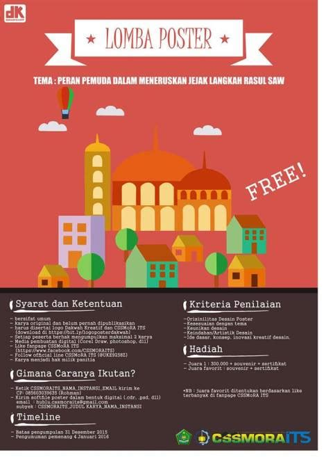 Lomba Poster Dakwah By CSS MoRA ITS | Hello Hijabers