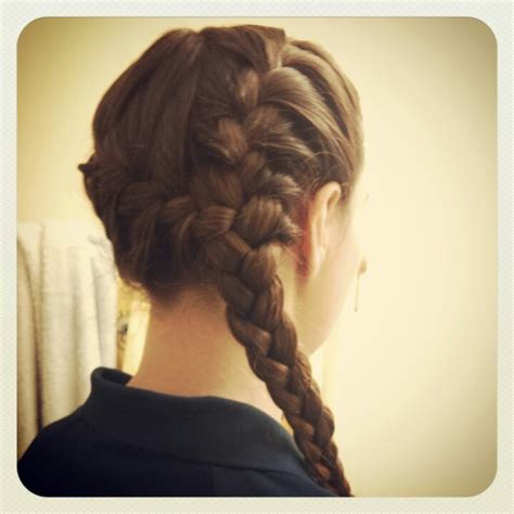 side french braid pigtails  single braid purties