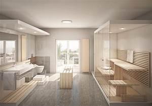 Badezimmer Mit Sauna : wellnessbad so gestalten sie ihr luxus badezimmer obi ~ A.2002-acura-tl-radio.info Haus und Dekorationen