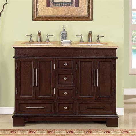 double sink bathroom vanity  dark walnut