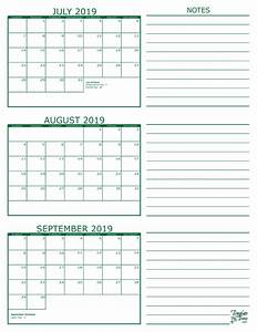Sept 2020 Calendar Printable 3 Month Calendar 2019