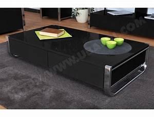 Table Basse Noire Design : table basse ub design mocca noir pas cher ~ Teatrodelosmanantiales.com Idées de Décoration