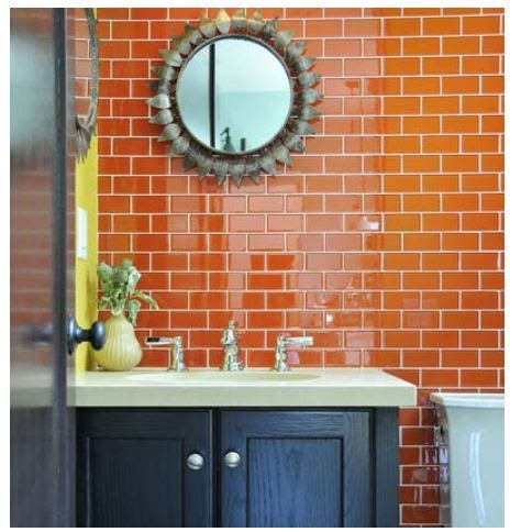 Colored Subway Tile Bathroom by Pretty Neat Organizer Colored Subway Tile