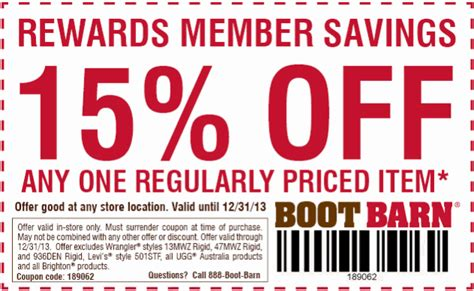 Boot Barn Printable Coupon