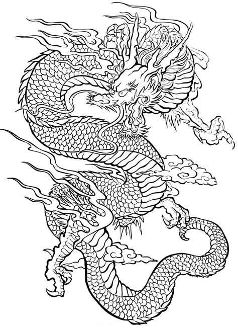 tattoo dragon tattoos adult coloring pages