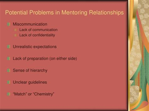 Potential Problems by Ppt Mentoring Best Practices Powerpoint Presentation
