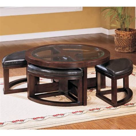 coffee table with ottomans underneath coffee table with seating underneath