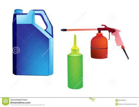 An Different Types Of Engine Oil Packaging Royalty Free
