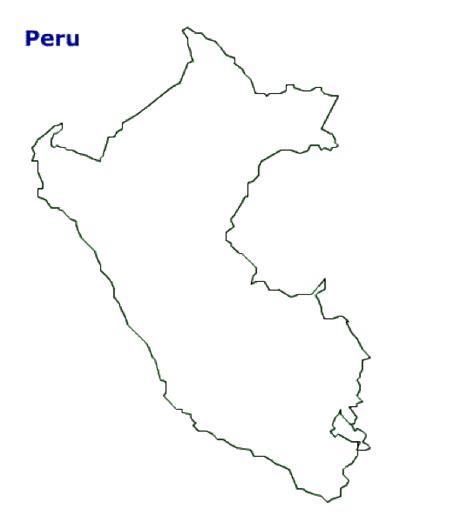 map  peru terrain area  outline maps  peru