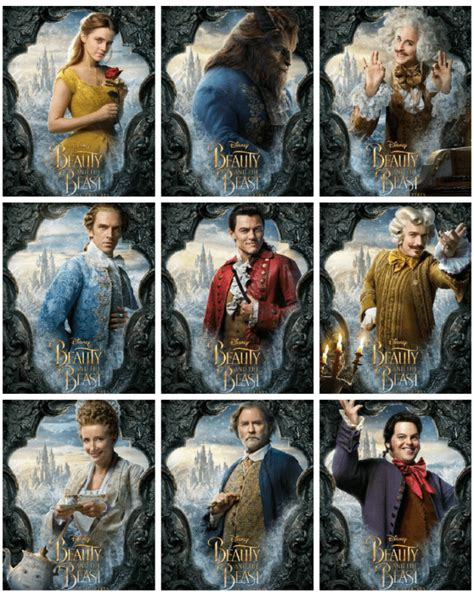 beauty   beast character posters beourguest