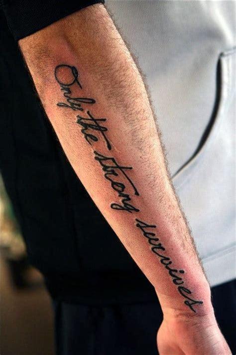 strong survive tattoos  men motto design