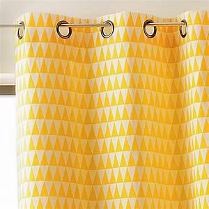 Rideau Jaune Et Gris : rideau tamisant 135 x h260 cm backgammon jaune rideau tamisant eminza ~ Teatrodelosmanantiales.com Idées de Décoration