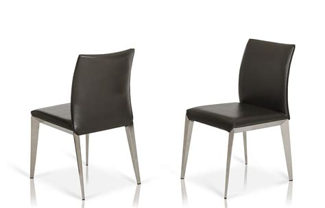 daytona modern grey eco leather dining chair set of 2