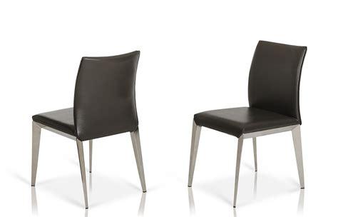 daytona modern grey eco leather dining chair set of 2