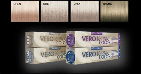 Joico Vero K-pak Color Ultra High Lift Colors.
