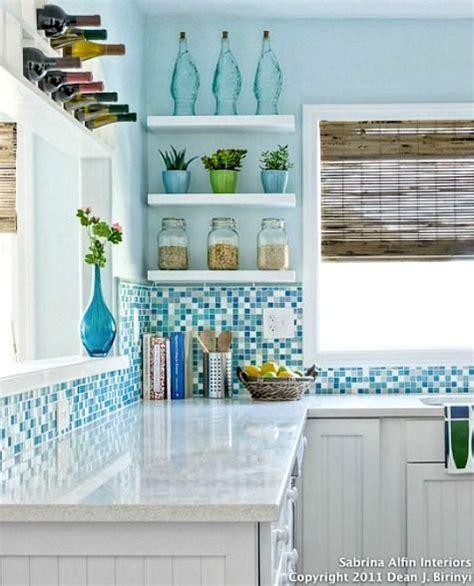 blue kitchen tiles ideas coastal kitchens with blue backsplash tiles http