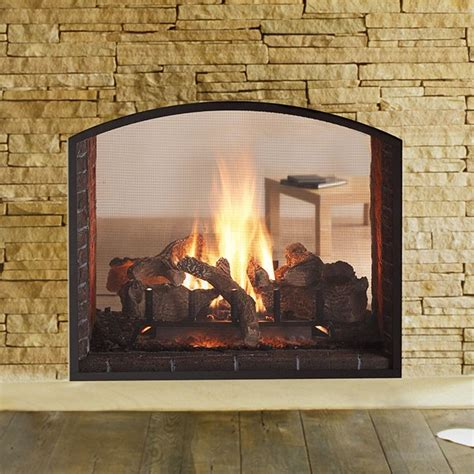 see through gas fireplace heat glo escape see through