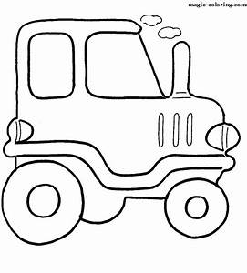 Pages Transport Simple Coloring Cars Very Pictures