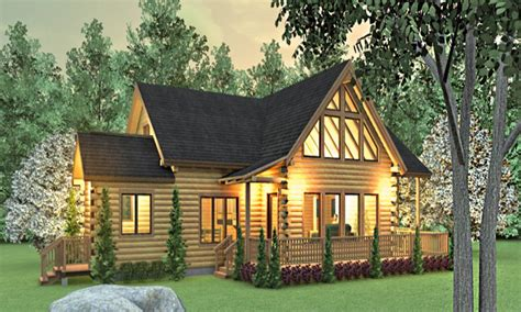 cabin style home ranch style log homes floor plans