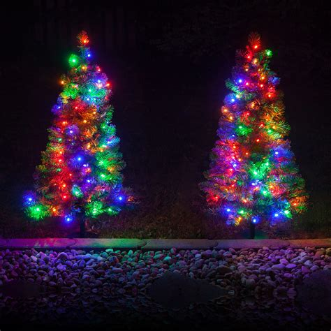 how many lights on christmas tree outdoor decorations 2 walkway pre lit winchester fir