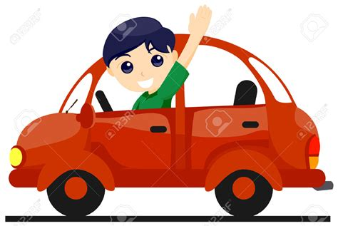 Child In Car Clipart