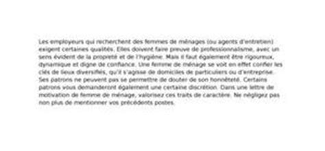 lettre de motivation femme de chambre lettre de motivation femme de chambre valet de chambre